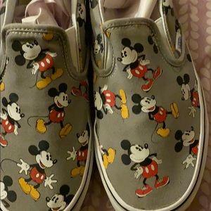 Disney Mickey Mouse vans slip on